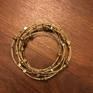 Gold bracelet stack set